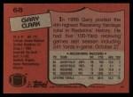 1987 Topps #68  Gary Clark  Back Thumbnail