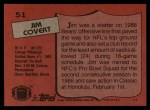 1987 Topps #51  Jim Covert  Back Thumbnail