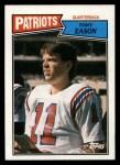 1987 Topps #97  Tony Eason  Front Thumbnail