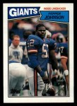 1987 Topps #28  Pepper Johnson  Front Thumbnail