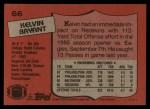 1987 Topps #66  Kelvin Bryant  Back Thumbnail