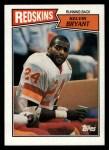 1987 Topps #66  Kelvin Bryant  Front Thumbnail