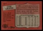 1987 Topps #57  Otis Wilson  Back Thumbnail