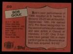 1987 Topps #89  Bob Golic  Back Thumbnail