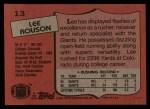 1987 Topps #13  Lee Rouson  Back Thumbnail
