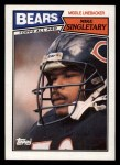1987 Topps #58  Mike Singletary  Front Thumbnail