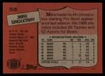 1987 Topps #58  Mike Singletary  Back Thumbnail