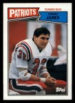 1987 Topps #98  Craig James  Front Thumbnail