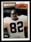 1987 Topps #85  Ozzie Newsome  Front Thumbnail
