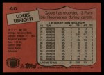 1987 Topps #40  Louis Wright  Back Thumbnail