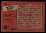 1987 Topps #88  Reggie Camp  Back Thumbnail