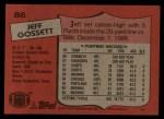 1987 Topps #86  Jeff Gossett  Back Thumbnail