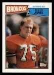 1987 Topps #38  Rulon Jones  Front Thumbnail