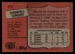 1987 Topps #77  Darrell Green  Back Thumbnail