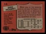 1987 Topps #18  Zeke Mowatt  Back Thumbnail