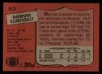 1987 Topps #83  Herman Fontenot  Back Thumbnail