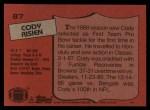 1987 Topps #87  Cody Risien  Back Thumbnail