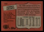 1987 Topps #32  Gerald Willhite  Back Thumbnail