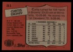 1987 Topps #81  Curtis Dickey  Back Thumbnail