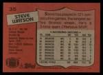 1987 Topps #35  Steve Watson  Back Thumbnail