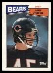1987 Topps #62  Gary Fencik  Front Thumbnail