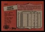 1987 Topps #62  Gary Fencik  Back Thumbnail