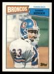 1987 Topps #33  Sammy Winder  Front Thumbnail