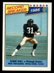 1987 Topps #7   -  Donnie Shell Record Breaker Front Thumbnail