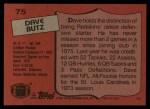 1987 Topps #75  Dave Butz  Back Thumbnail