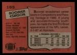 1987 Topps #185  Boomer Esiason  Back Thumbnail