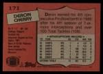1987 Topps #171  Deron Cherry  Back Thumbnail