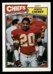 1987 Topps #171  Deron Cherry  Front Thumbnail