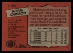 1987 Topps #179  Norm Johnson  Back Thumbnail