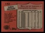 1987 Topps #182  Dave Brown  Back Thumbnail