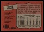 1987 Topps #173  Dave Krieg  Back Thumbnail