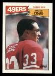 1987 Topps #113  Roger Craig  Front Thumbnail