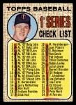 1968 Topps #67 B  -  Jim Kaat Checklist 1 Front Thumbnail