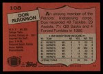 1987 Topps #108  Don Blackmon  Back Thumbnail