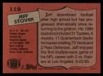 1987 Topps #119  Jeff Stover  Back Thumbnail