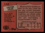 1987 Topps #142  Lester Lyles  Back Thumbnail
