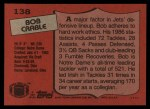 1987 Topps #138  Bob Crable  Back Thumbnail