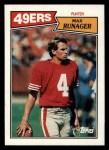 1987 Topps #118  Max Runager  Front Thumbnail