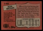 1987 Topps #148  Ron Brown  Back Thumbnail