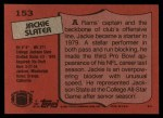 1987 Topps #153  Jackie Slater  Back Thumbnail