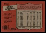 1987 Topps #163  Henry Marshall  Back Thumbnail