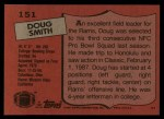 1987 Topps #151  Doug Smith  Back Thumbnail