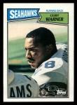 1987 Topps #174  Curt Warner  Front Thumbnail