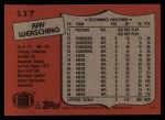 1987 Topps #117  Ray Wersching  Back Thumbnail