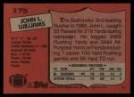 1987 Topps #175  John L. Williams  Back Thumbnail