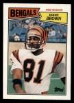 1987 Topps #189  Eddie Brown  Front Thumbnail